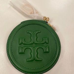Tory Burch Fleming Coin Pouch Green